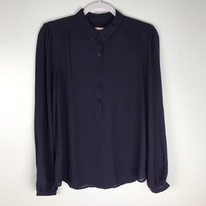 Ann Taylor Loft Peter Pan Collar Blouse